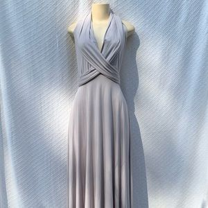 Gray Convertible Long Gown